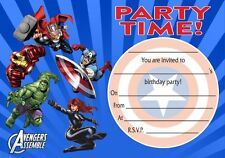 Avengers Party Pack - invitations, thank you notes, banner