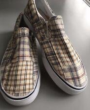 Chaps Men's Plaid Slip on Fabric Upper
