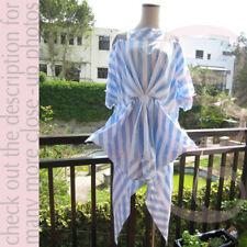MERCIBEAUCOUP Stripes Cotton Doozy Bat Dress!Free Size