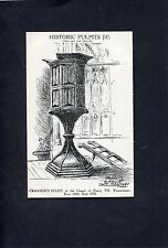 Postcard - Historic Pulpits - Cranmer's  Pulpit, Westminster