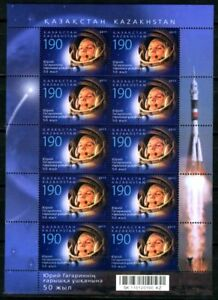 2011. Kazakhstan.50 th anniversary of Y. Gagarin. Sheet. MNH. Sc.638