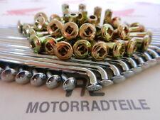 Honda CB 500 Four Speichensatz Gelb verzinkte Nippel Vorderrad spoke front Wheel
