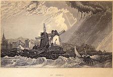 Gravure Etching Kupferstich Incisione St Malo L. Daut Instit. Bibliographique