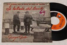 """GABER:7""""-BALLATA CERRUTI-LAMBRETTA COVER-1°ST 1961 EX"""