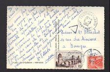 ILE OLERON (17) VERT-BOIS / combinaison postale TIMBRES TAXES en 1956