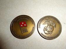 CHALLENGE COIN USMC MARINE CORPS MANPOWER RESERVE AFFAIRS DCS 3 STAR GENERAL