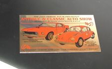 AUTO SHOW DASH PLAQUE 2004 28TH ANNUAL FLY-IN BREAKFAST 1969 MUSTANG 1974 VW