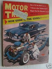 Motor Trend Magazine Oct 57 How Good  Is The Edsel/ Buy A 57 Car Now