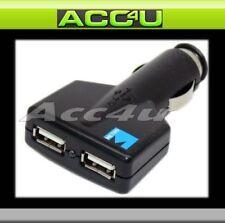 12v Car Van Twin Two Way iPod Mobile Phone MP3 USB Power Charging Socket Adapter