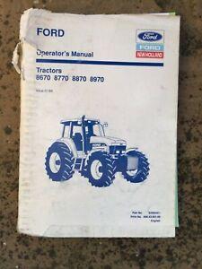 FORD 70 SERIES TRACTOR MANUAL BROCHURE OPERATORS HANDBOOK FARM CLASSIC MODEL