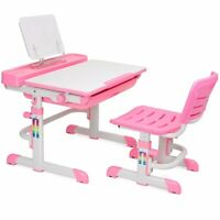 Kids Desk Interactive Work Station learning table Height Adjustable pink