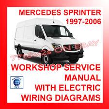 1997-2006 mercedes sprinter workshop repair service manual wiring diagrams