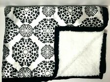 Cocalo Couture Elsa Black White Satin Baby Blanket Sherpa Security Lovey