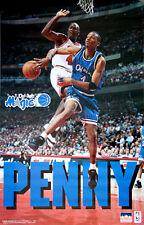 Anfernee PENNY Hardaway 1995 Orlando Magic POSTER - Posterizes Michael Jordan