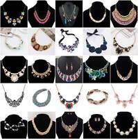Women Lady Jewelry Pendant Choker Chunky Statement Chain Bib Fashion Necklace