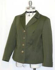 "GREEN WOOL JACKET German Women Hunting Riding SHORT Winter Suit B41"" / 10 M"