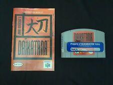 Daikatana N64 Game Cart and Manual Only Rare