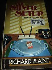 The Silver Setup  A Mike Garrett Mystery by Richard Blaine Aug 1988 Paperback