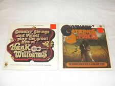 """(2) SEALED LP's - Country Strings & Voices """"Biggest Hits"""", """"Plays Hank Williams"""""""