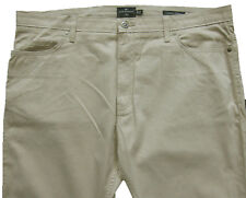 New Mens Marks & Spencer Beige Regular Fit Trousers Waist 42 Leg 30 LABEL FAULT