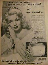 Lana Turner, Lux Soap, Full Page Vintage Print Ad