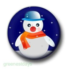 Christmas Snowman Scarf 1 Inch / 25mm Pin Button Badge Frosty Christmas Festive