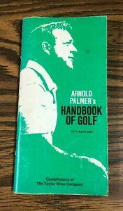 Vintage 1971 Arnold Palmer's Original Handbook of Golf 1971 Edition