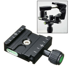 1x Qr- 50 Clamp Quick Release Plate Clamp Mount Base For Arca Swiss Tripod Black