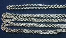 Chain 3ft 2x2mm fine silver plated cable link jewelry making beading chain ch094