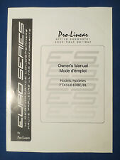 PRO LINEAR PTXSUB10BE SUBWOOFER OWNERS OPERATING MANUAL FACTORY ORIGINAL