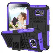 Schutzhülle Cover Zubehör Lila für Samsung Galaxy S6 G920 G920F Tasche Schutz