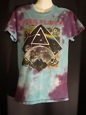 Tie Dye Pink Floyd Shirt purple and blue 2018