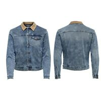 Only & Sons Mens Blue Denim Jacket Size Small to 2XL