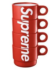 Supreme Stacking Cups Set of 4 Red SS18 LIMITED 100% Authentic