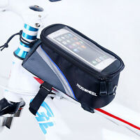 Roswheel Bicycle Cycling Bike Frame Front Tube Bag For Cell Phone Touch Screen
