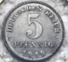 Germany 1919, 5 Pfennig Coin