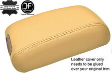 BEIGE REAL LEATHER ARMREST LID COVER FITS HYUNDAI TUCSON 2004-2012
