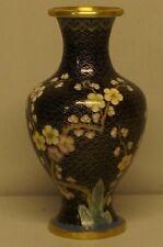 Cloisonne vase enamelled metal.