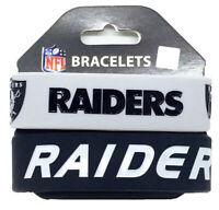 NFL Las Vegas Raiders Rubber Silicon Bracelet Wristband 2-Pack
