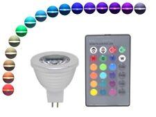 LED Strahler GU5.3 MR16 4W RGB mit Fernbedienung 16 Farben Leuchtmittel bunt