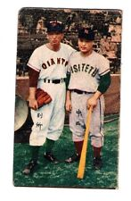 Takehiko Bessho 別所 毅彦 Futoshi Nakanishi 中西太 Japan Series 1956 Baseball Menko HOF