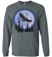 Soaring Eagle T-shirt Long Sleeve Tee Nature Wildlife Decal Gifts for Men