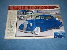 "1937 Chevy Custom Sport Coupe Article ""Rumble in the Desert"""