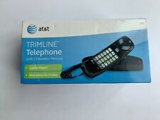 Corded Phone Landline Handset Wall Mount Home Telephone Single Line Black AT&T