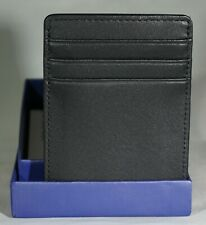 Royce Black Leather 6 Card Wallet with Clip