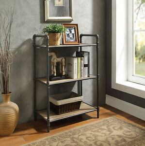 Acme Furniture Itzel - Bookshelf Antique Oak & Sandy Gray