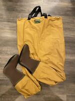 Vintage Orvis Chest High Fly Fishing Waders Size Large Neoprene Foot EUC