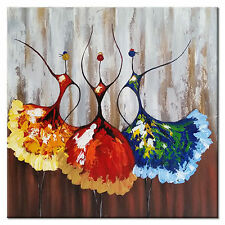 Abstract Hand Paint Oil Painting Picture Home Decor Wall Art Ballet Girls Framed
