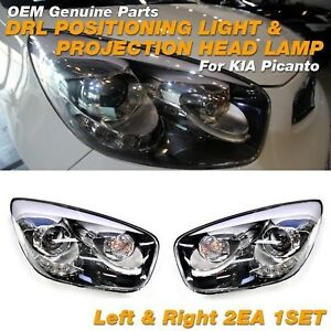 OEM Genuine Parts DRL LED Head Light Lamp Assy LH RH For KIA 2011-2017 Picanto