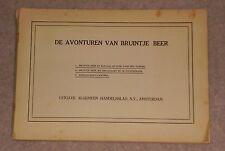 RARE 1940 DE AVONTUREN VAN BRUINTJE BEER DUTCH RUPERT BEAR PAPERBACK 21